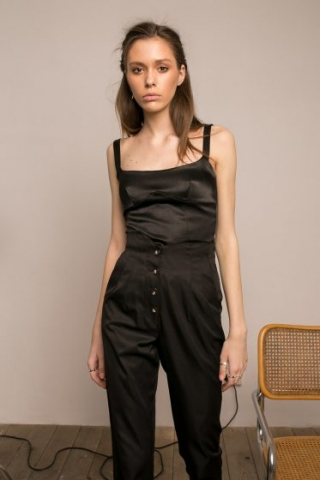 NOIR BUSTIER & MUSE TROUSERS